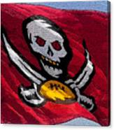 Pirate Football Canvas Print