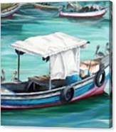 Pirogue Fishing Boat  Canvas Print