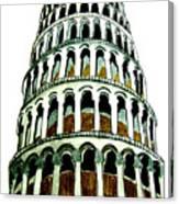 Pisa Erected Canvas Print