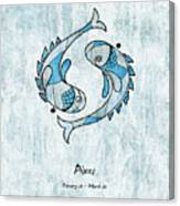 Pisces Artwork Canvas Print
