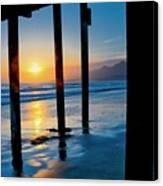 Pismo Beach Pier Sunset Canvas Print