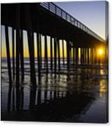 Pismo Sunset Wharf Canvas Print