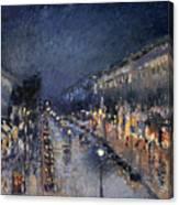 Pissarro: Paris At Night Canvas Print