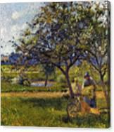 Pissarro: Wheelbarr., 1881 Canvas Print