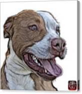 Pit Bull Fractal Pop Art - 7773 - F - Wb Canvas Print