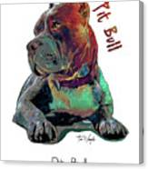 Pit Bull Pop Art Canvas Print