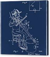 Pitch Fork Fiddle And Drum Patent 1936 - Blue Canvas Print