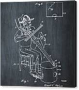 Pitch Fork Fiddle And Drum Patent 1936 - Chalk Canvas Print