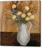 Pitcher Of Mums Canvas Print