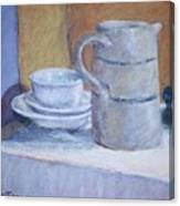 Pitcher With Bowl And Plate Canvas Print