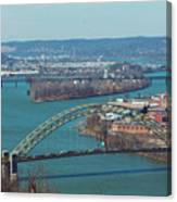 Pittsburg City Skyline Canvas Print