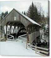 Pittsburg-clarksville Covered Bridge Canvas Print