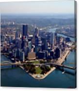 Pittsburgh Aerial Digital Painting Canvas Print
