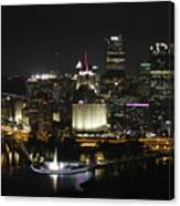 Pittsburgh At Night Canvas Print