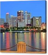 Pittsburgh At Waters Edge Canvas Print