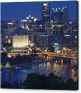 Pittsburgh Blue Hour Panoramic Canvas Print