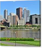 Pittsburgh From Just Outside Pnc Park Canvas Print