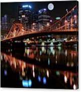 Pittsburgh Full Moon Canvas Print