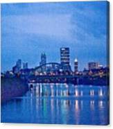 Pittsburgh In Blue Canvas Print
