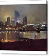 Pittsburgh Night Canvas Print