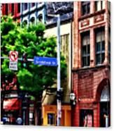 Pittsburgh Pa - Liberty Ave And Smithfield Street Canvas Print