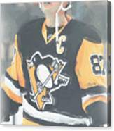 Pittsburgh Penguins Sidney Crosby 3 Canvas Print