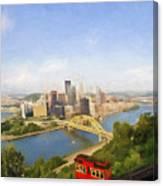 Pittsburgh Pennsylvania Incline Canvas Print