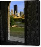Pittsburgh Skyline, North Shore Arch, Pittsburgh, Pa  Canvas Print