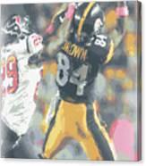 Pittsburgh Steelers Antonio Brown 2 Canvas Print