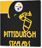 Pittsburgh Steelers Team Vintage Art Canvas Print