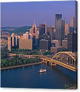 Pittsburgh,pennsylvania Skyline Canvas Print