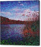 Pixel Lake Canvas Print