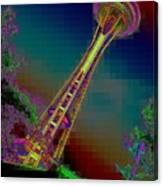 Pixel Needle Canvas Print