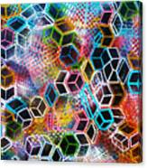 Pixelated Cubes Canvas Print