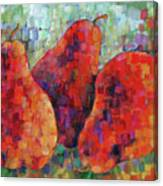 Pixelated Red Pears Canvas Print