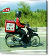 Pizza Delivery Canvas Print