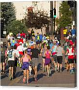 Pikes Peak Marathon And Ascent Canvas Print