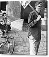 Placard Carrier No Gulf War Rally Federal Building Tucson Arizona 1991  Canvas Print