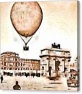 Place Du Carrousel 1878 Canvas Print