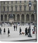 Place Du Carrousel At The Louvre Canvas Print