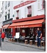 Place Du Tertre In Paris Canvas Print