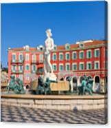 Place Massena Of Nice In France Canvas Print