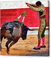 Placing Bandirillas Canvas Print