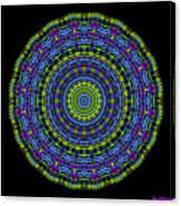 Plaid Wheel Mandala Canvas Print