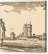Plan General Du Chasteau Et Petit Parc De Vincennes Canvas Print