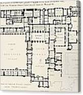 Plan Of Principal Floor Of Hampton Canvas Print