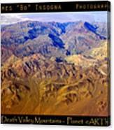 Planet Art Death Valley Mountain Aerial Canvas Print
