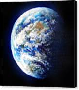 Planet Earth. Space Art Canvas Print