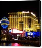 Planet Hollywood By Night Canvas Print