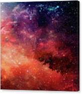Planetary Soul Violet Canvas Print